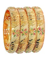 Indian Traditional 1 Gram Gold Plated Handmade Meena Work Fashion Bangle - $15.07