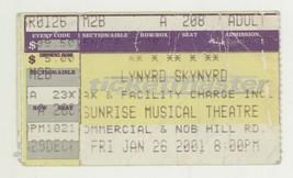 COOL Lynyrd Skynyrd 1/26/01 Sunrise FL Concert Ticket Stub! Miami - $4.94