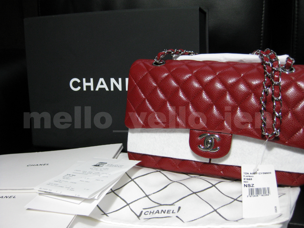 3a69be9e1251 NWT Chanel 12A Red Caviar Medium M/L Classic and 50 similar items