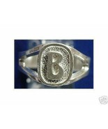 LOOK Sterling Silver Initial Letter B Ring Jewelry - $12.82