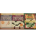 Set of 3 Mind Stretchers Word Search Find Puzzle Book Crossword Logic Ma... - $19.99