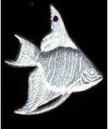 destash harvest 1 x pewter angel fish 2-3cm no lead - $10.00