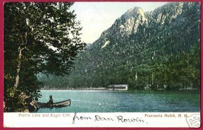 Franconia Notch NH Profile Lake Eagle Cliff 1907 Rumney