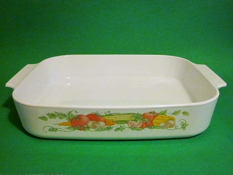 Primary image for Corning Ware Garden Harvest Roaster / Lasagna A-21-B-N USA