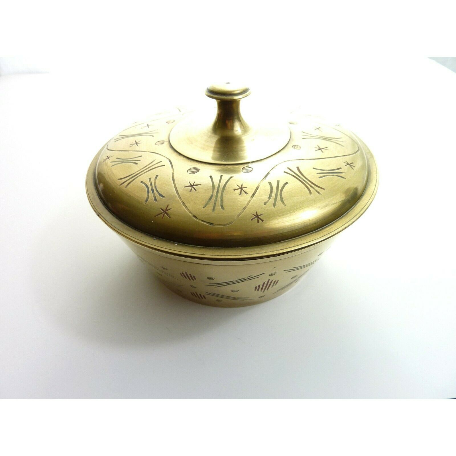 Primary image for Vintage Mid Century Brass Bowl with Lid