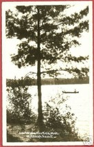 Mayfield MI Postcard Arbutus Lake Canoe Tree RPPC BJs - $10.00