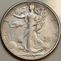 1918 S Walking Liberty Half Dollar - AU / Almost Uncirculated - $197.00