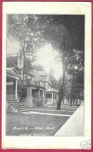 MI FLINT MICHIGAN Beach Street Homes Trees 1908 - $7.50