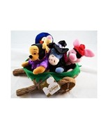 Disney Store Winnie the Pooh Halloween Wheel barrel Mini Bean Bag Set-Be... - $58.02