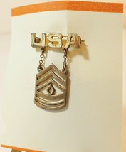 WW II U.S. Army First Sergeant Chain Uniform Pin in Sterling - $14.86