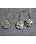Lead-free Metal Celtic Fairy Knotwork Earrings - $7.85