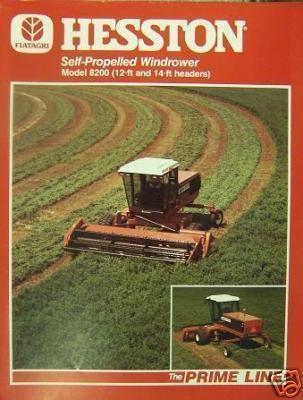 Primary image for Hesston 8200 Self-Propelled Windrower Specifications Sheet