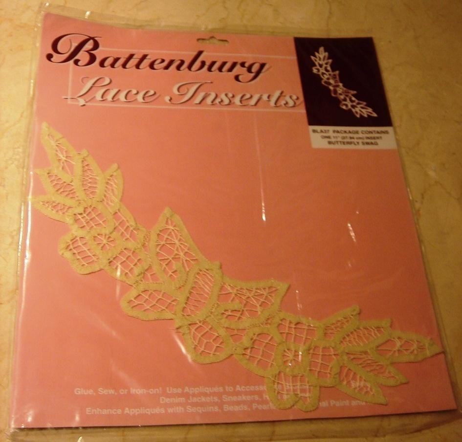 Battenberg butterfly swag