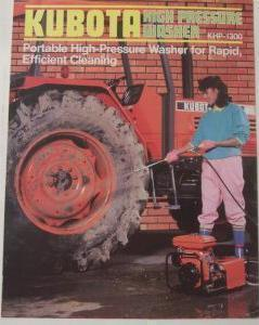 Primary image for 1987 Kubota KHP-1300 Pressure Washer Original Color Brochure
