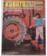 1987 Kubota KHP-1300 Pressure Washer Original Color Brochure - $5.00