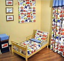 Bacati Transportation Multicolor 4 Piece Toddler Bedding Set - $113.57