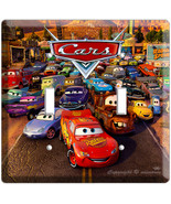 CARS 2 MCQUEEN DISNEY MOVIE DOUBLE LIGHT 1 SWITCH PLATE - $11.99