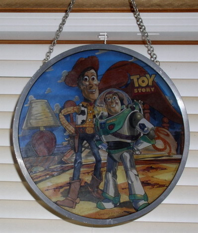 Disney Toy Story Buzz Lightyear and Woody Stained Glass