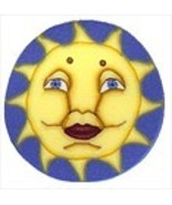 "Small Sun 3425s handmade clay button .62"" JABC Just Another Button Co - $1.60"