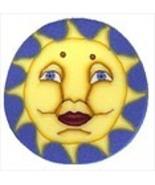 """Small Sun 3425s handmade clay button .62"""" JABC ... - $1.60"""