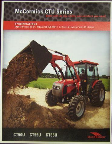 Primary image for 2008 McCormick CTU50U, CT55U, CT65U Tractors Brochure