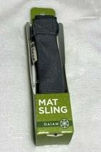Gaiam Grey Yoga Mat Carrier Sling Over Shoulder Strap Pilates Fitness NEW - $9.90