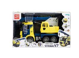 Yoowon Toys Crane Truck Car Vehicle Sound Effect Lights Heavy Equipment Play Toy image 5