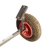 Stainless Steel Boat Launching Trailer Wheels Hand Dolly Small Inflatable Boat image 11