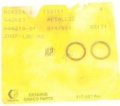 LOT OF 2 NEW GRACO 150111 METALLIC GASKETS