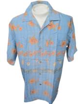Hawaiian ALOHA shirt M pit to pit 24 JOE MARLIN rayon poly cocktails flo... - $14.69