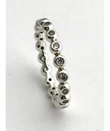 Authentic Pandora Eternity Sterling & Clear CZ Ring 191032CZ-52 Sz 6 New - $65.84