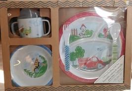 Lady jayne 5 Pc Feedimg Gift Set Baby Toddler Bpa Free Fire Truck - $39.59