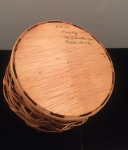 Eli Hershberger Amish woven basket with leather handles image 6