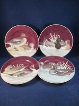 Fitz and Floyd Canard Luncheon Dessert Cake Game Duck Plates 1995 Set of... - $30.00