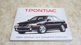 OEM FACTORY 1994 PONTIAC GRAND AM OWNERS MANUAL L-224 - $7.61