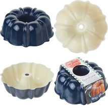 Bundt Pan Bakeware Aluminum Fiesta Party Tool Cake Mold Sculpted 6 Cup N... - $14.89