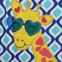 Rare editions Giraffe Shirt Bike Short 2 Piece set Royal blue Size 5 image 2