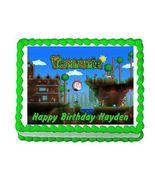 Terraria Gaming Edible Cake Image Cake Topper - $8.98+