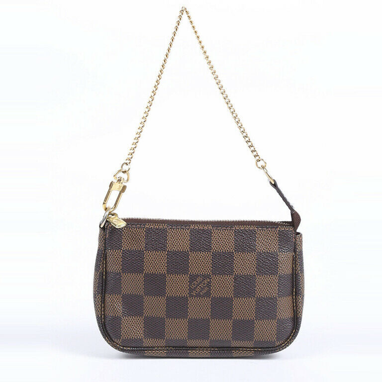 Louis Vuitton Mini Pochette Accessories Damier Ebene Bag