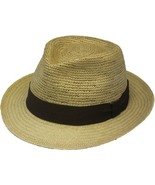 Henschel Genuine Panama Handcrafted Trilby Fedora Black Ribbon Band Whea... - $120.00