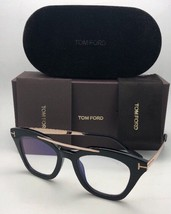 New TOM FORD Eyeglasses ANNA-02 TF 575 001 49-20 140 Black & Gold Frame w/ Clear - $399.95