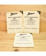 3 Vintage Zenith Service Manuals Radio And Television Receivers - $8.90
