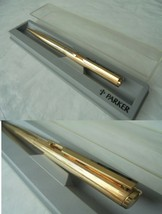 PARKER VECTOR PENNA A SFERA 12K ORO FILLED +SCATOLA Ball Pen Gold Filled... - $50.42