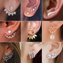 2020 New Crystal Flower Drop Earrings for Women Fashion Jewelry Gold col... - $9.98