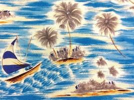 EUC Pineapple Connection Blue Sailing Sailboat Mens Hawaiian Shirt Palm ... - $19.99