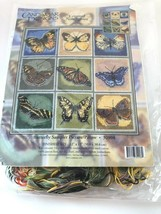 """Candamar Designs Needlepoint Butterfly Picture 12x12"""" 30908 2000 Vtg - $34.64"""