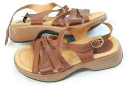 Dansko Lolita Brown Leather Sling Back Strappy Sandals Women Size 38 US ... - $29.70