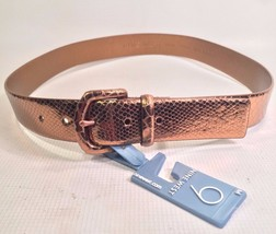 NINE WEST Women's Belt Embossed Reptile Texture SZ M New w Tags - $21.23