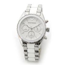 Emporio Armani Sportivo Chronograph Weißes Zifferblatt Unisex Armbanduhr... - $144.90