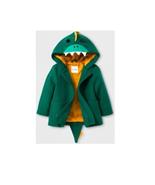 Cat & Jack ~ Toddler Boys Faux Wool Coat/Jacket Size 18 Months ~ Green D... - $30.00